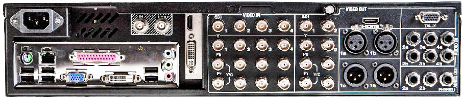 tricaster, tri, caster, 455, back, rear, inputs, outputs, system, streaming, stream, live,