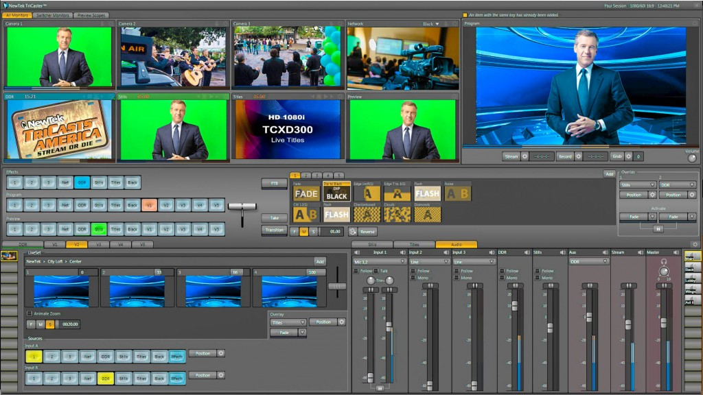 TriCaster, Tri, caster, interface, web, face, look, screen,