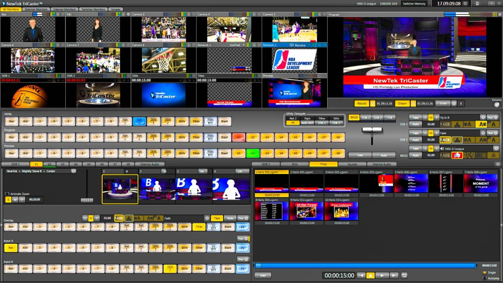 tricaster, tri, caster, 850, interface, switcher, camera, composite, live